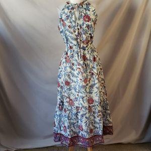 New J Crew Gulp Ruffle Neck Printed Dress
